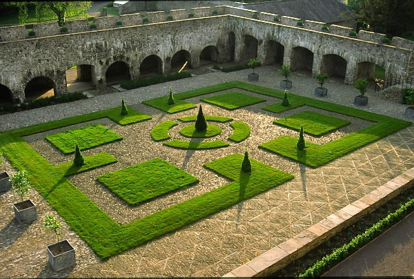 Aberglasney house and gardens in Carmarthenshire,