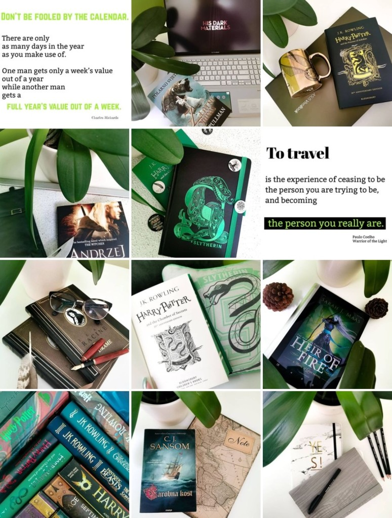 A photo of Staring_at_words bookstagram feed with 12 photos