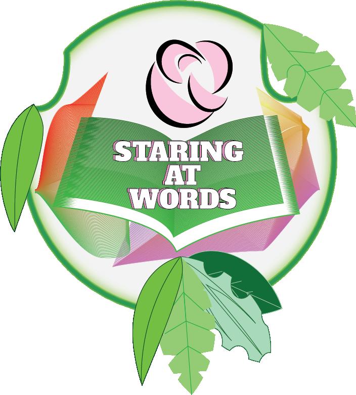 Staring at words logo